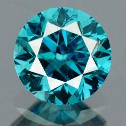 0,32 CT Niebieski Diament...