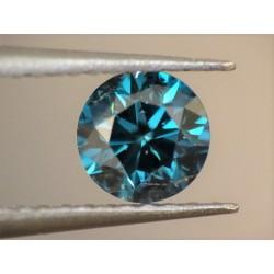 Naturalny diament niebieski fantazyjny