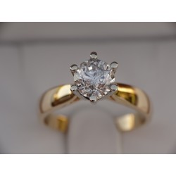 Gold ring 585 Moissanite F...