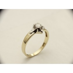 Gold ring 585 Diamond E...
