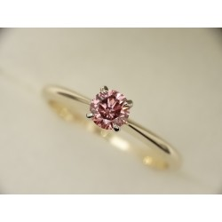 Gold ring 585 Diamond Pink...