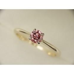 Gold ring 585 Diamond Pink...