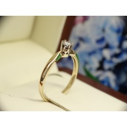 Gold ring 585 Diamond D...