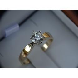 Złoty pierścionek 585 Duży...